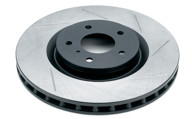 Rotora Front Right Slotted Rotor Subaru STI 03-04